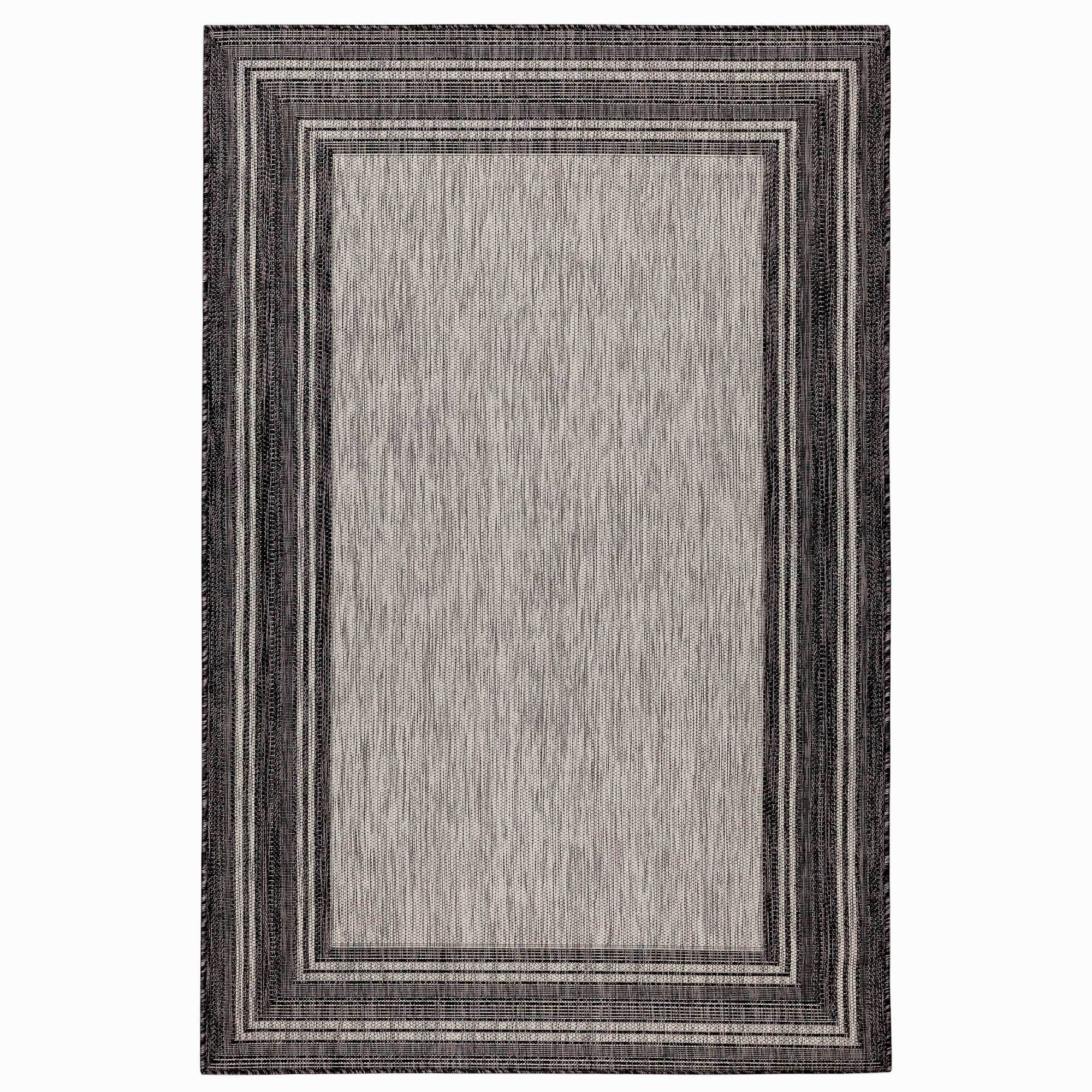 "Liora Manne Carmel Multi Border Black Everywear Rug-Area Rug-Trans-Ocean-39""X59""-The Rug Truck"