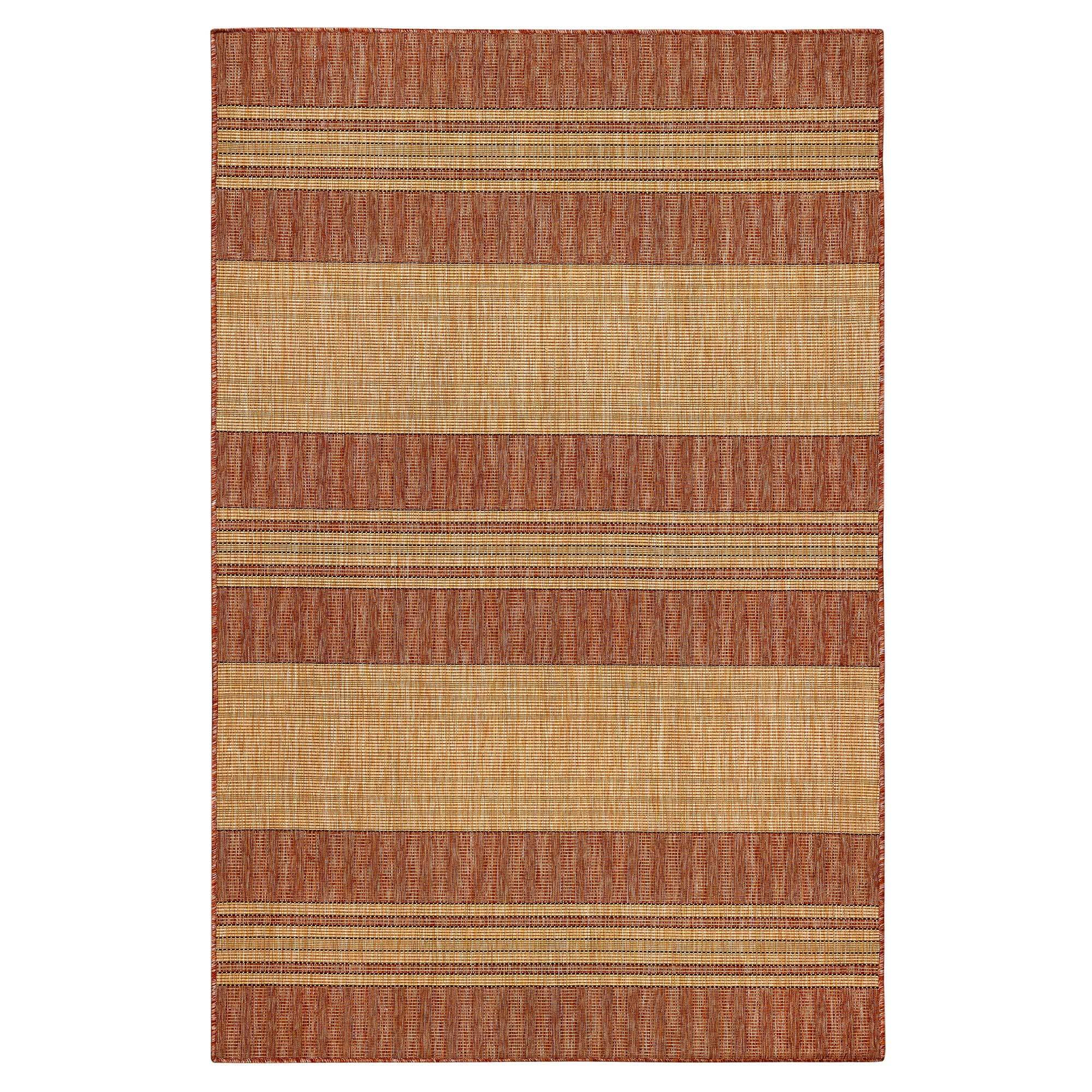 "Liora Manne Carmel Stripe Red Everywear Rug-Area Rug-Trans-Ocean-39""X59""-The Rug Truck"