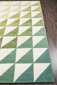 Novogratz by Momeni Delmar DEL-6 Agatha Side Triangle Lime Area Rug-Area Rug-Momeni-The Rug Truck
