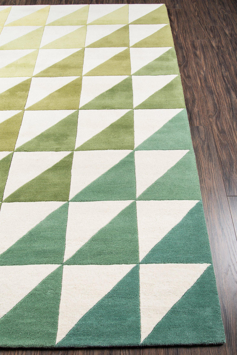 "Novogratz by Momeni Delmar DEL-6 Agatha Side Triangle Lime Area Rug-Area Rug-Momeni-2'3"" X 8' Runner-The Rug Truck"