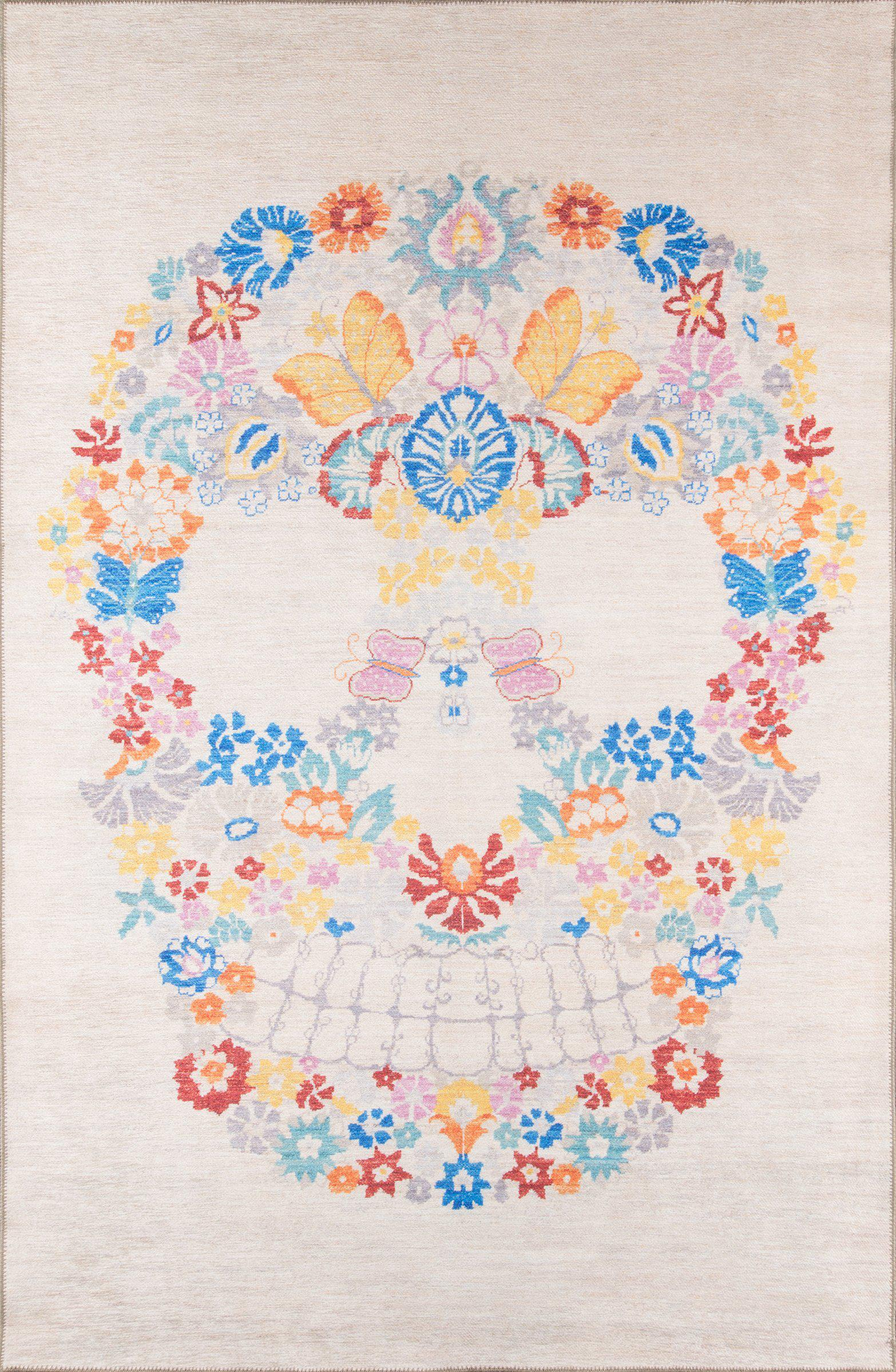 "Novogratz by Momeni District DIS-1 Calavera Multi Area Rug-Area Rug-Momeni-3'3"" X 5'-The Rug Truck"