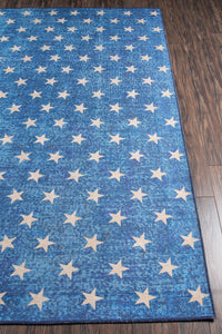 Novogratz by Momeni District DIS-7 Stars Blue Area Rug-Area Rug-Momeni-The Rug Truck