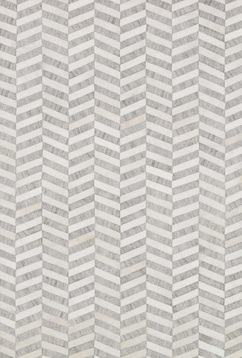"Dorado DB-01 Grey / Ivory-Area Rug-Loloi-2'-6"" x 8'-0""-The Rug Truck"