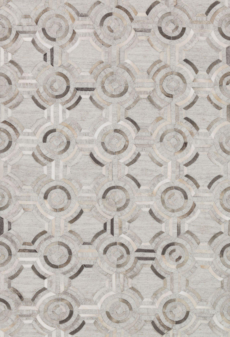 "Dorado DB-05 Grey / Grey-Area Rug-Loloi-2'-6"" x 8'-0""-The Rug Truck"