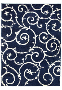 "Florida 2323 Navy Area Rug-Area Rug-World Rug Gallery-3'3"" x 5'-The Rug Truck"