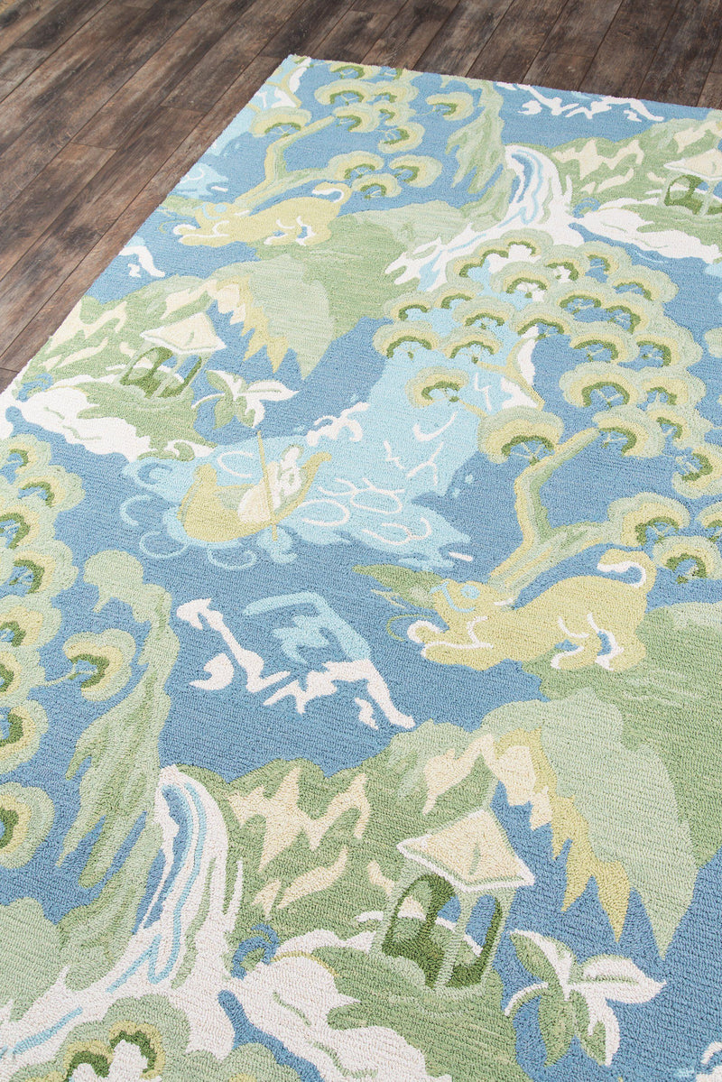 Madcap Cottage by Momeni Embrace Blue Area Rug-Area Rug-Momeni-2' X 3'-The Rug Truck