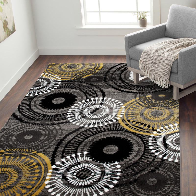 Alpine 119 Gray/Yellow Area Rug-Area Rug-World Rug Gallery-2' x 3'-The Rug Truck