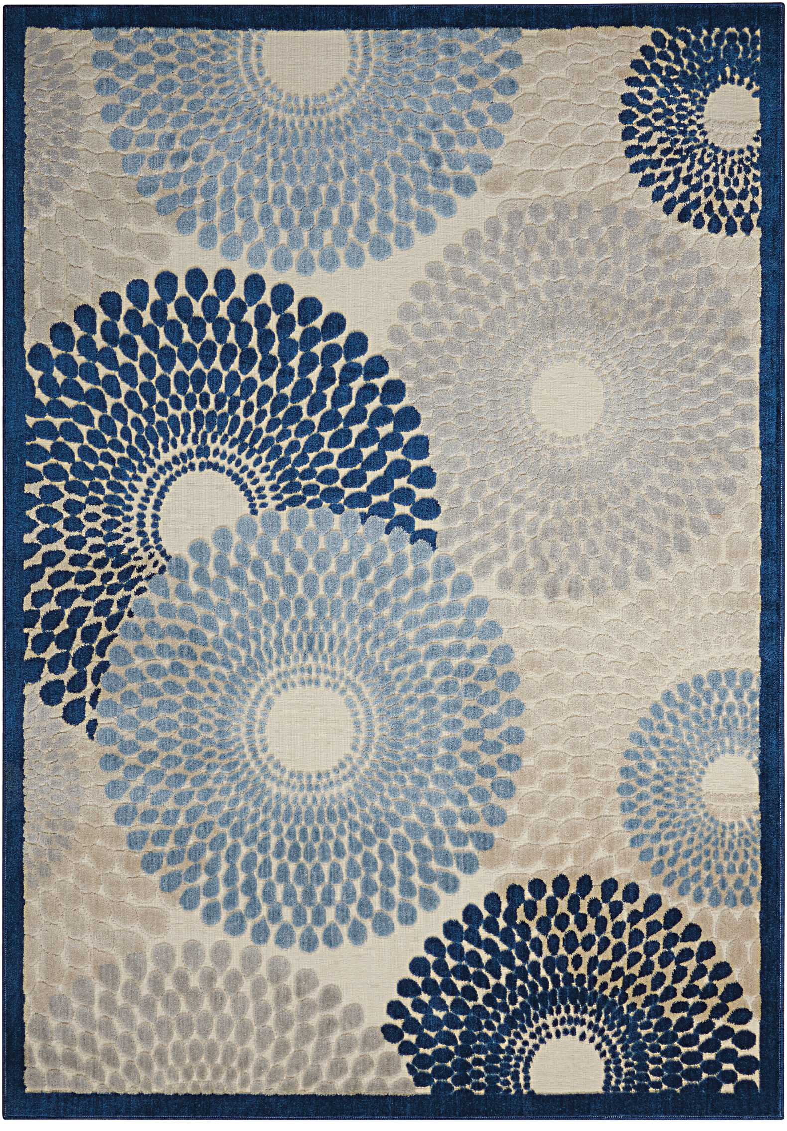 "Illuminate IL04 Ivory Blue Area Rug-Area Rug-The Rug Truck-2'3"" x 3'9""-The Rug Truck"