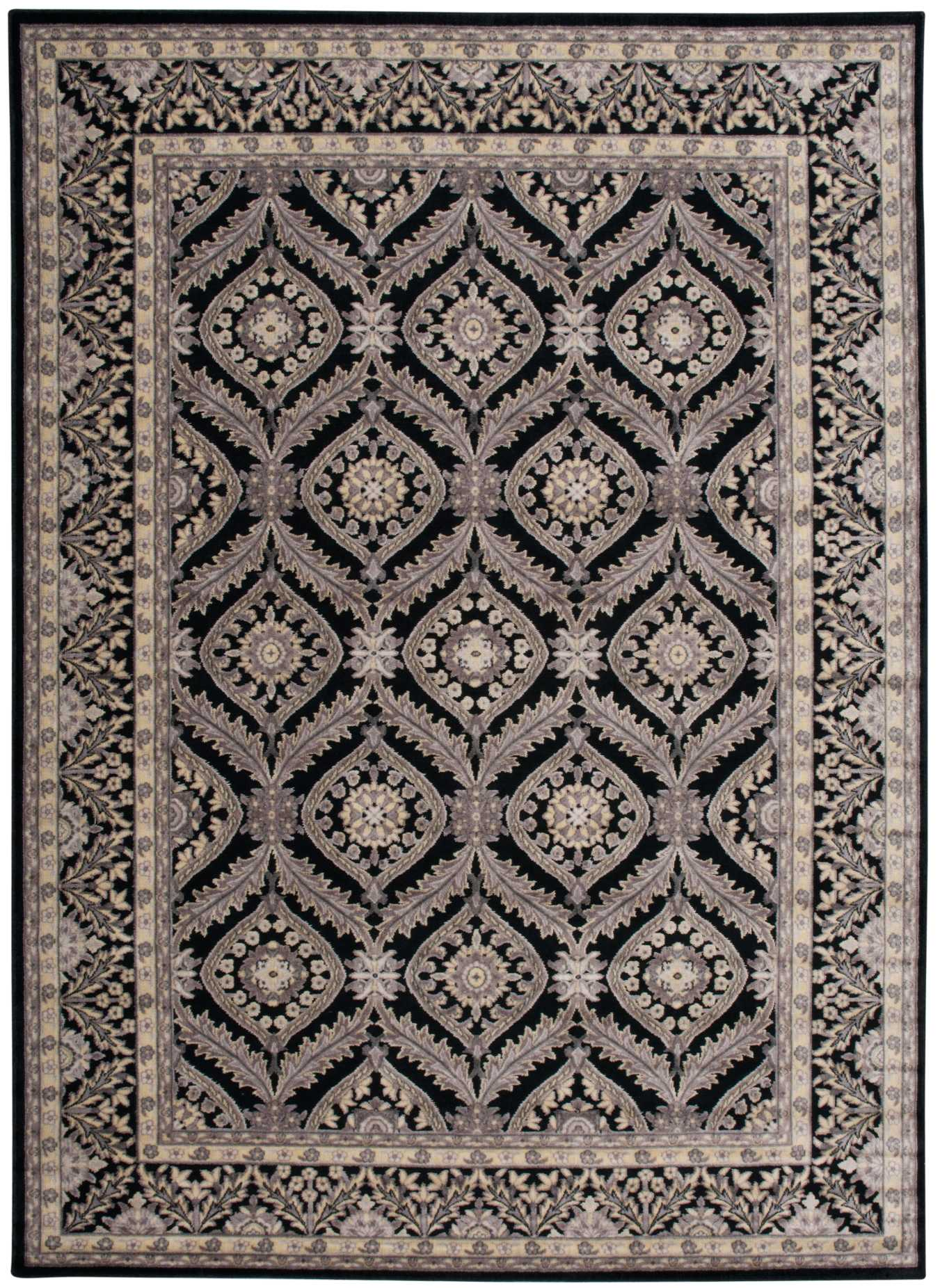 "Illuminate IL24 Black Area Rug-Area Rug-The Rug Truck-2'3"" x 3'9""-The Rug Truck"