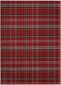 "Grafix GRF03 Red Area Rug-Area Rug-Nourison-5'3"" x 7'3""-The Rug Truck"