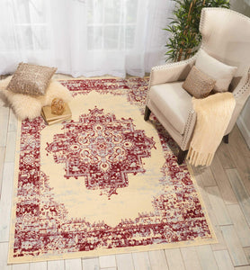 Grafix GRF14 Cream Red Area Rug-Area Rug-Nourison-The Rug Truck
