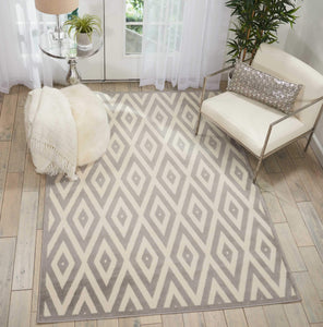 Grafix GRF18 White/Grey Area Rug-Area Rug-Nourison-The Rug Truck