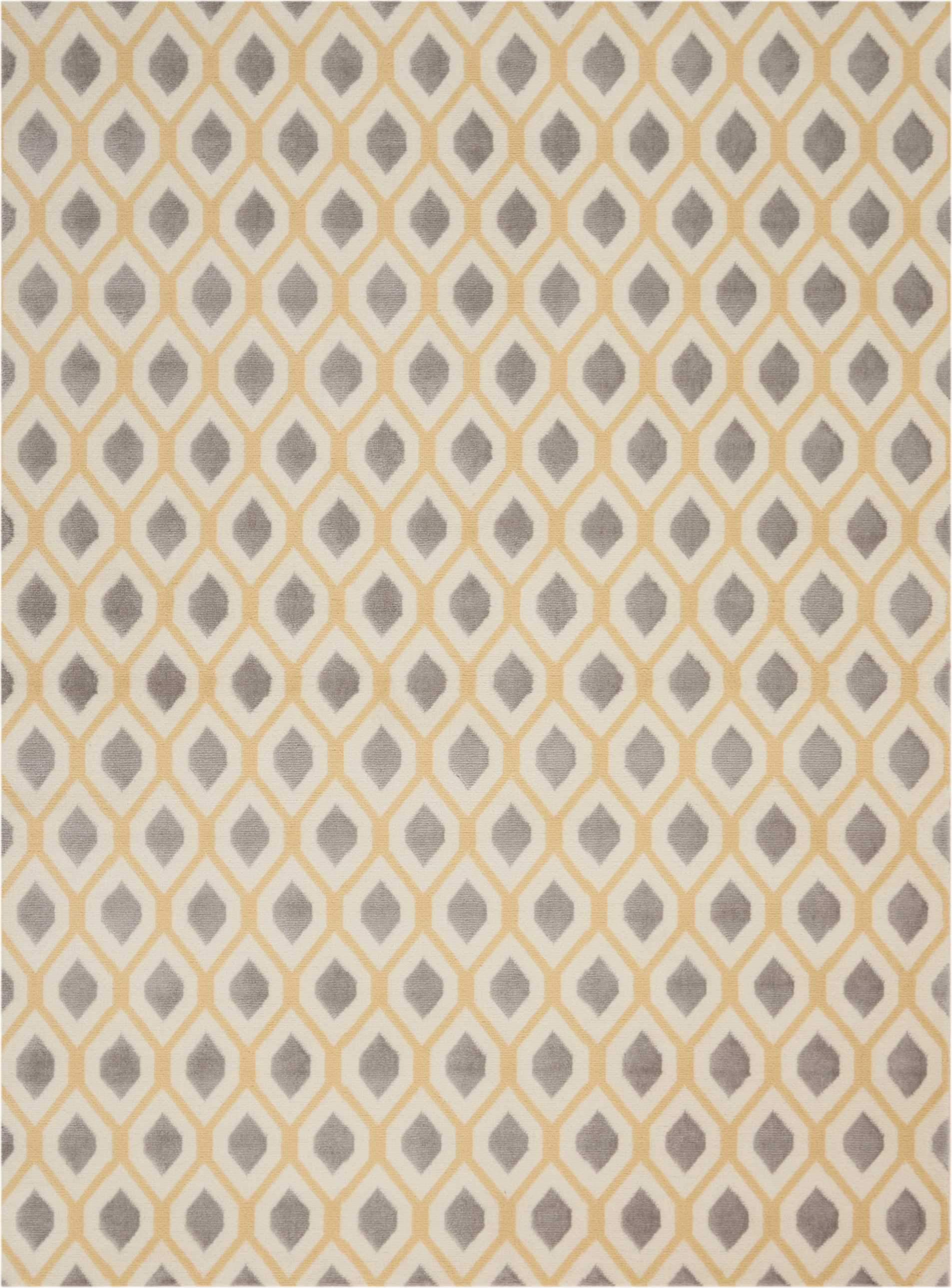 "Grafix GRF22 White Area Rug-Area Rug-Nourison-5'3"" x 7'3""-The Rug Truck"