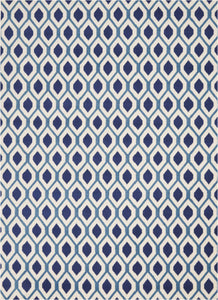 "Grafix GRF22 White/Navy Area Rug-Area Rug-Nourison-5'3"" x 7'3""-The Rug Truck"