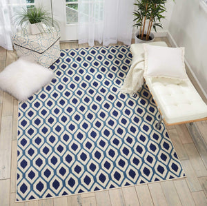 Grafix GRF22 White/Navy Area Rug-Area Rug-Nourison-The Rug Truck