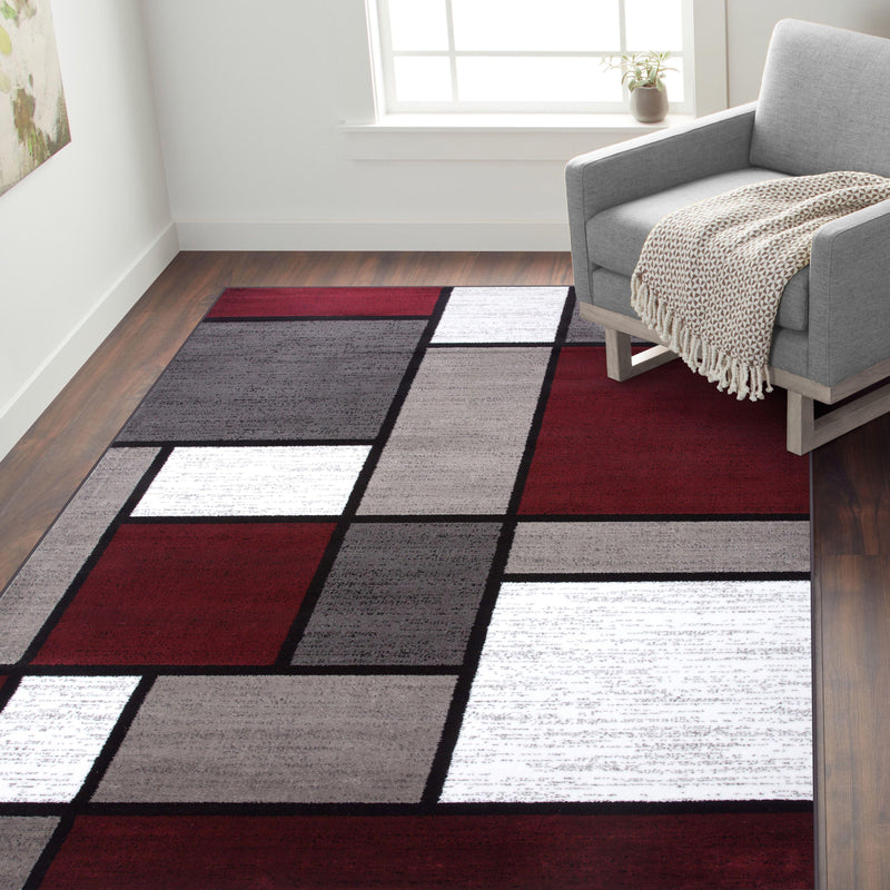 "Alpine 106 Red Area Rug-Area Rug-World Rug Gallery-3'3"" x 5'-The Rug Truck"