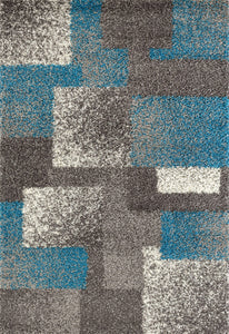 "Florida 2929 Blue/Grey Area Rug-Area Rug-World Rug Gallery-3'3"" x 5'-The Rug Truck"