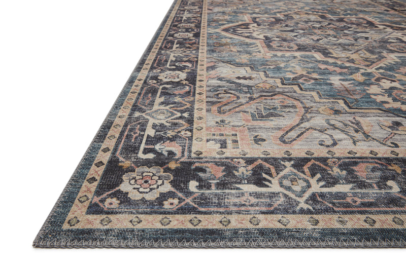 "HATHAWAY HTH-01 NAVY / MULTI Area Rug (7'-6"" x 9'-6"")"