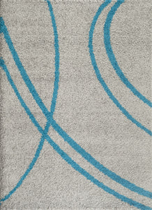 "Florida 2727 Turquoise Area Rug-Area Rug-World Rug Gallery-3'3"" x 5'-The Rug Truck"