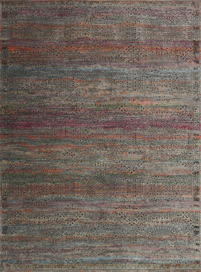 "Javari JV-02 Charcoal / Sunset-Area Rug-Loloi-2'-6"" x 4'-0""-The Rug Truck"