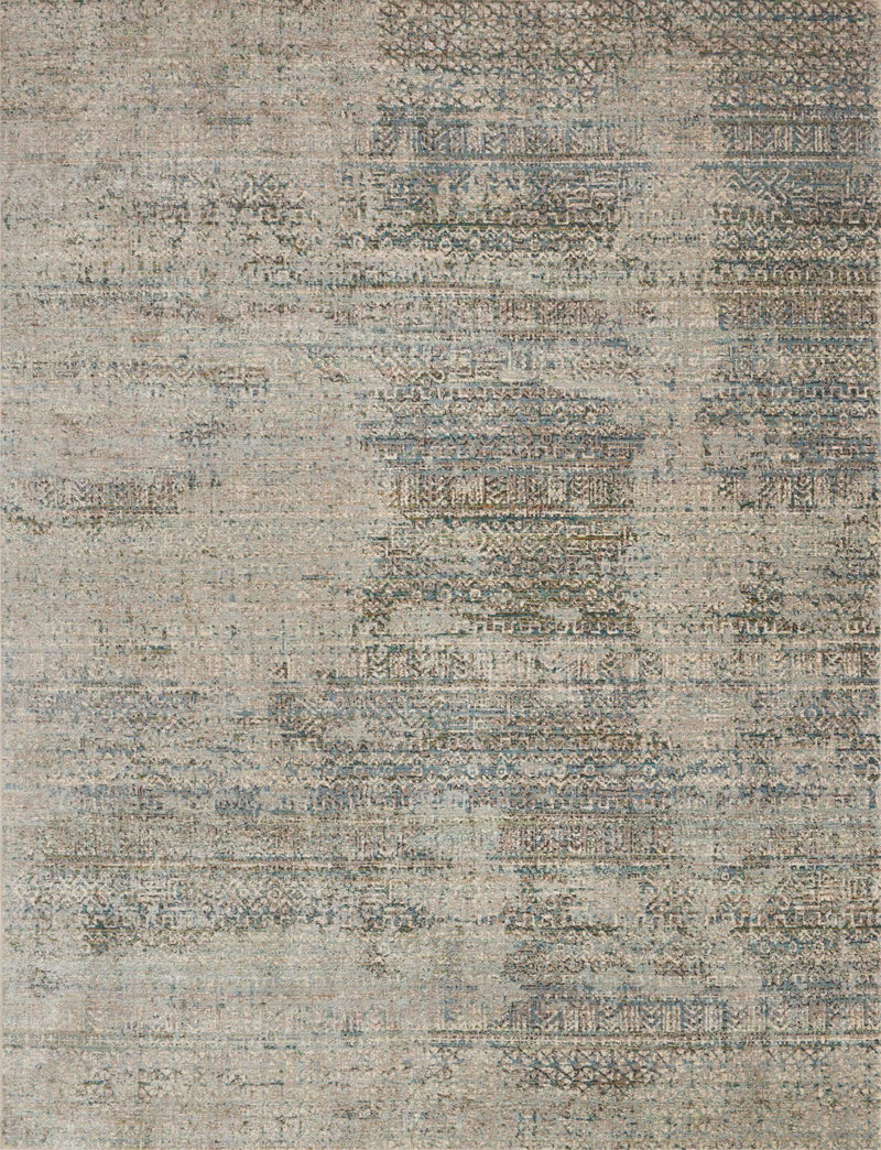 "Javari JV-05 Ivory / Sea-Area Rug-Loloi-2'-6"" x 4'-0""-The Rug Truck"
