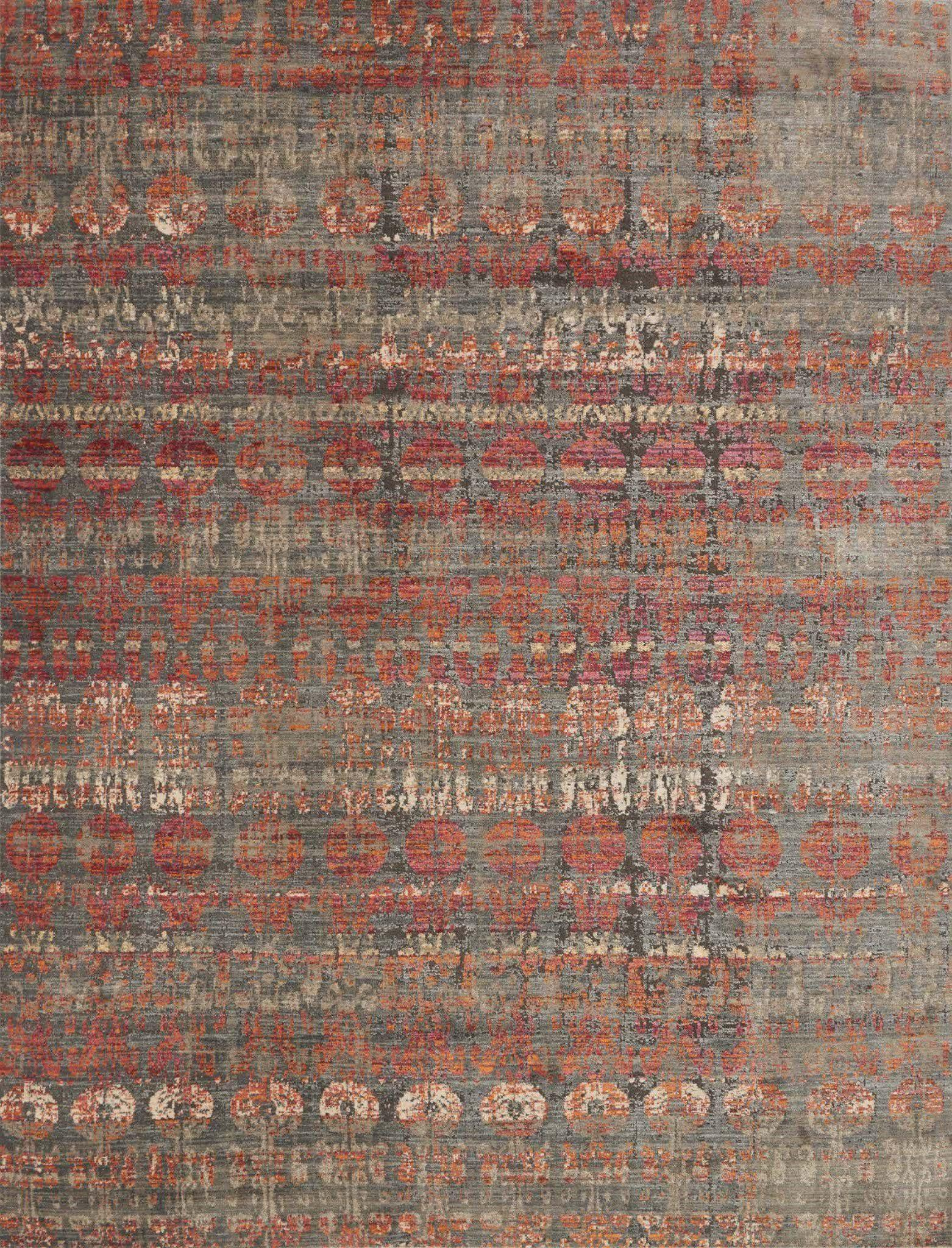 "Javari JV-07 Steel / Sunrise-Area Rug-Loloi-2'-6"" x 4'-0""-The Rug Truck"