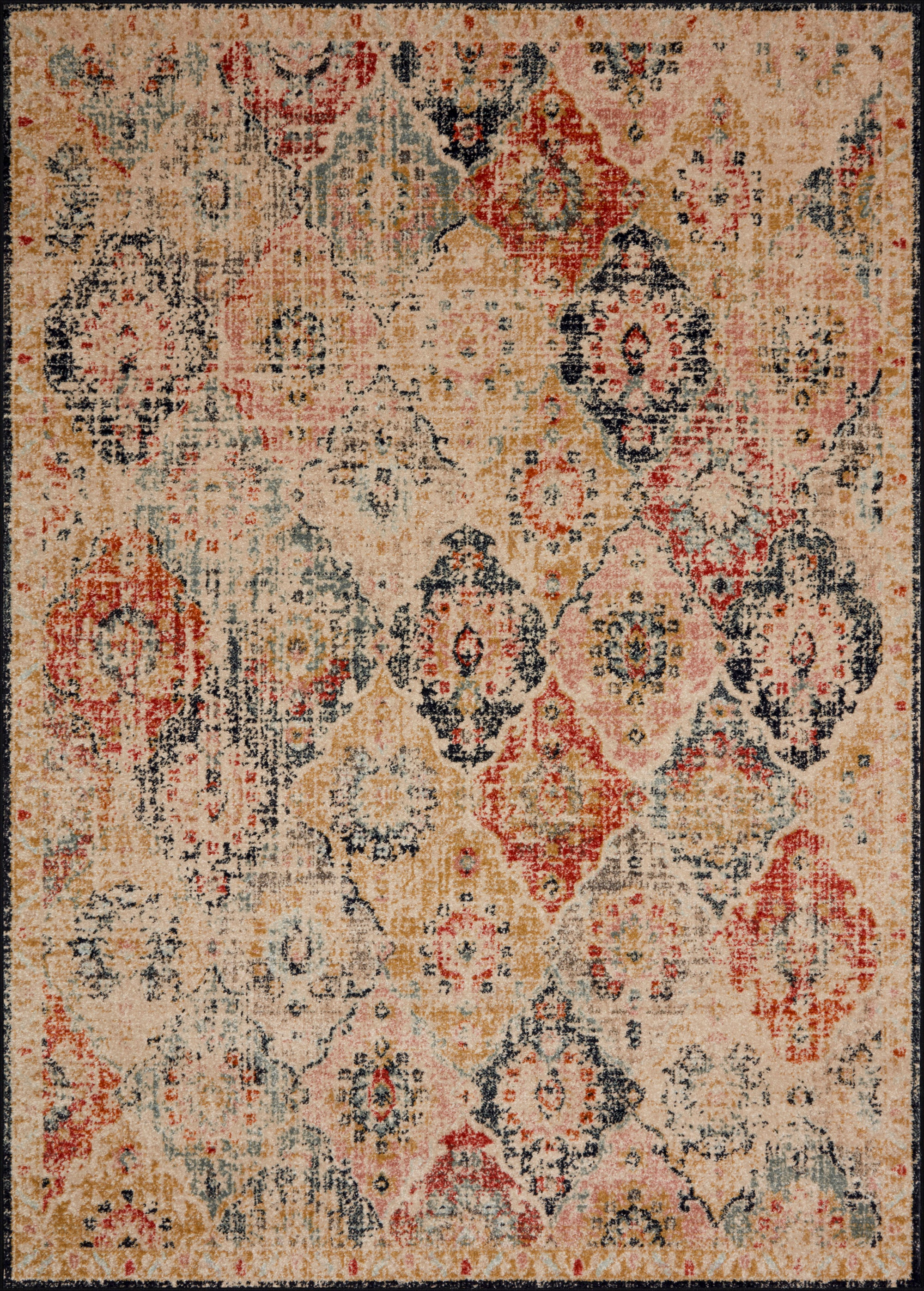 "JOCELYN JOC-07 KHAKI / MULTI Area Rug (7'-10"" x 10')"