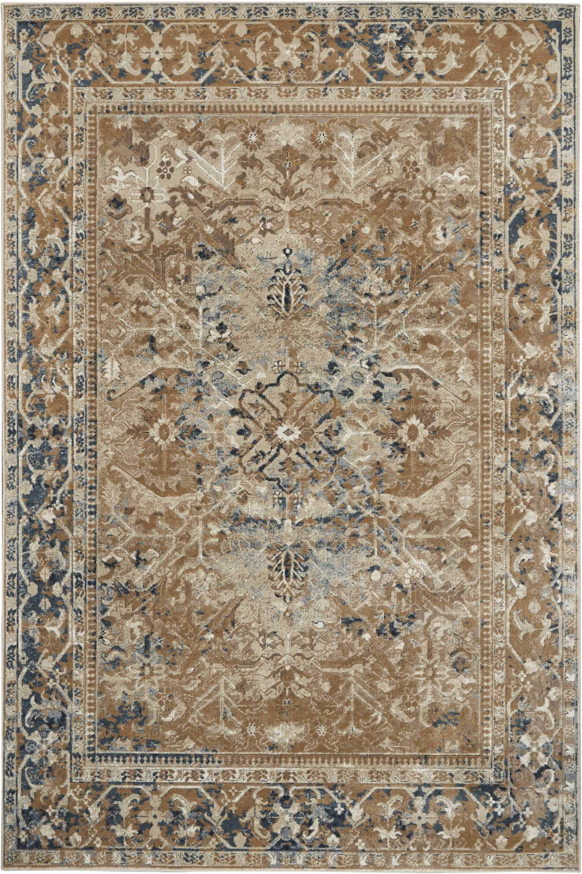 "kathy ireland HOME Malta Taupe Area Rug-Area Rug-kathy ireland HOME-3'11"" x 5'7""-The Rug Truck"