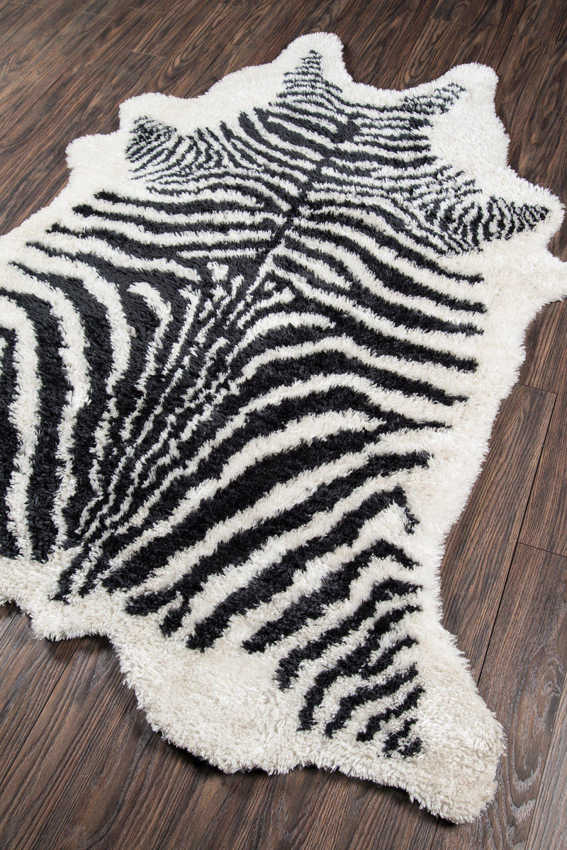 "Novogratz by Momeni Kalahari KAL-1 Domesticated Black Area Rug-Area Rug-Momeni-3'6"" X 5'6""-The Rug Truck"