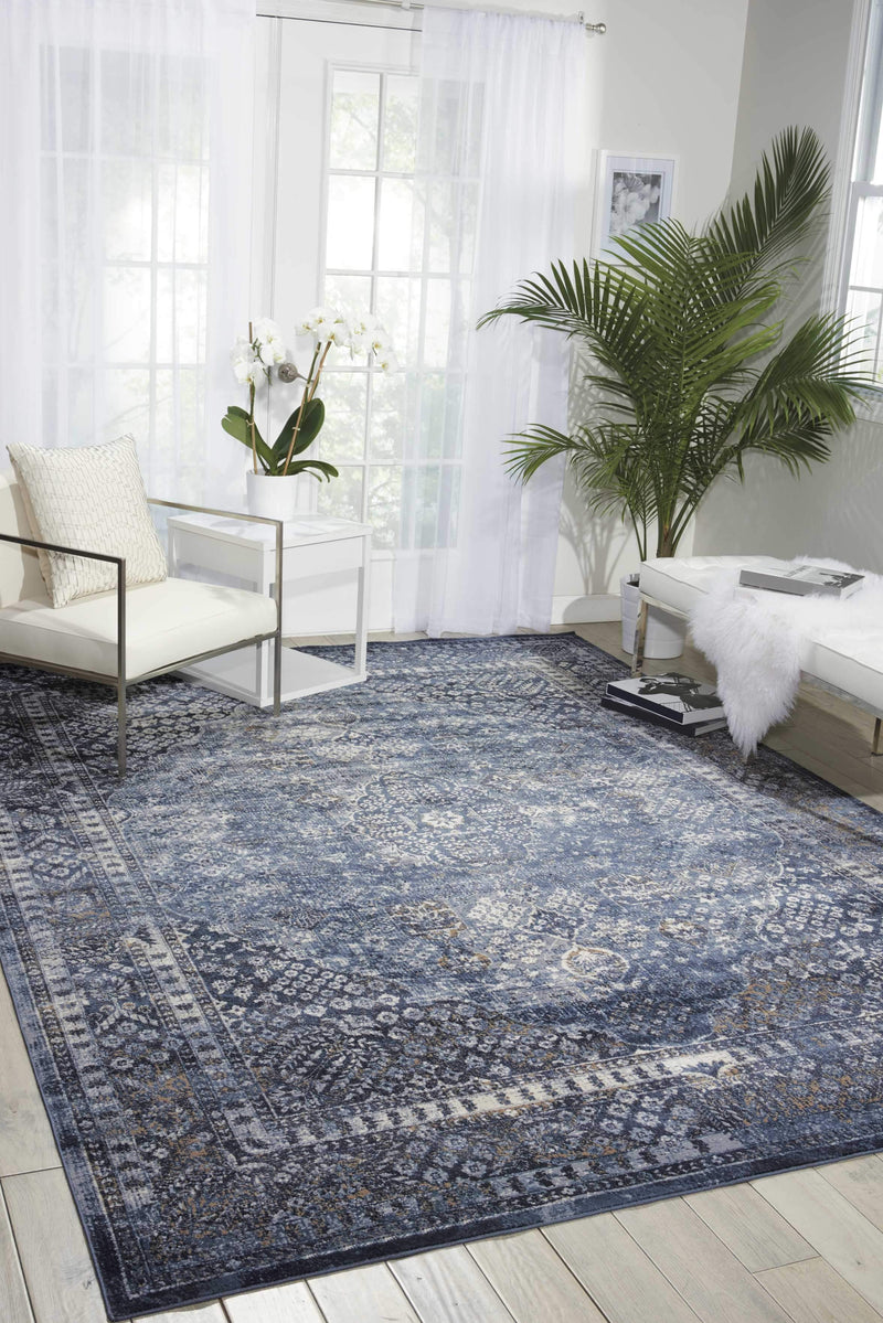 "kathy ireland HOME Malta Navy Area Rug-Area Rug-kathy ireland HOME-3'11"" x 5'7""-The Rug Truck"