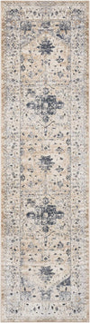"kathy ireland HOME Malta Beige Blue Area Rug-Area Rug-kathy ireland HOME-2'2"" x 7'7""-The Rug Truck"
