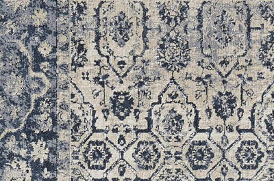 kathy ireland HOME Malta Ivory Blue Area Rug-Area Rug-kathy ireland HOME-The Rug Truck
