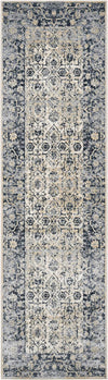 "kathy ireland HOME Malta Ivory Blue Area Rug-Area Rug-kathy ireland HOME-2'2"" x 7'7""-The Rug Truck"