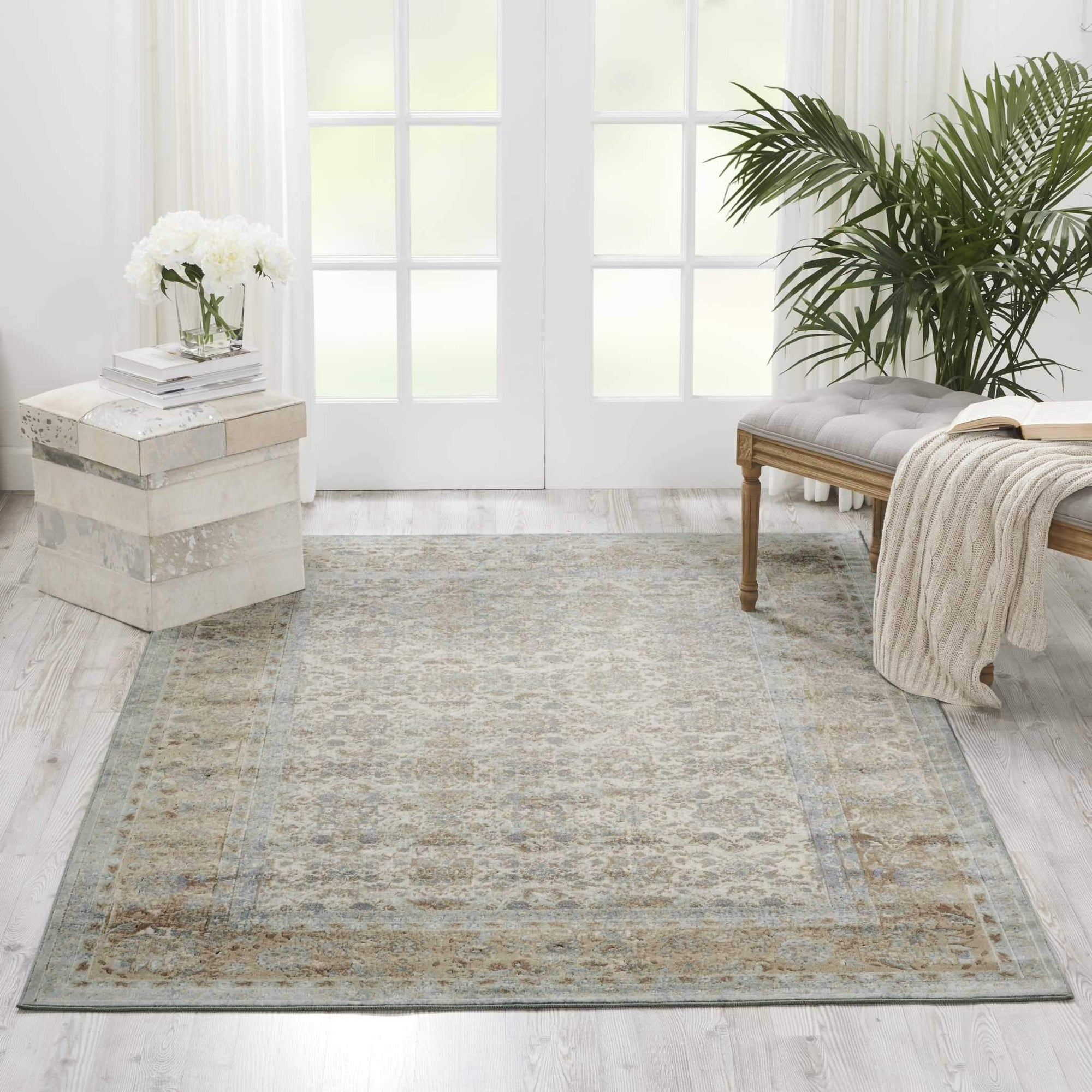 "kathy ireland HOME Malta Slate Area Rug-Area Rug-kathy ireland HOME-3'11"" x 5'7""-The Rug Truck"