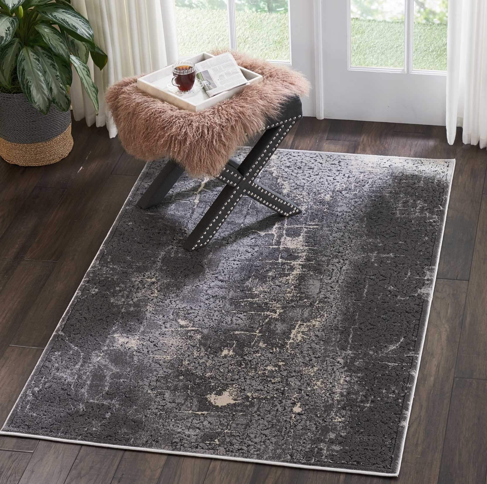 "kathy ireland HOME Heritage Charcoal Area Rug-Area Rug-kathy ireland HOME-3'11""X5'11""-The Rug Truck"