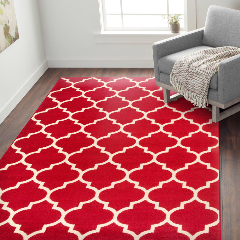 "Nevada 962 Red Area Rug-Area Rug-World Rug Gallery-3'3"" x 5'-The Rug Truck"