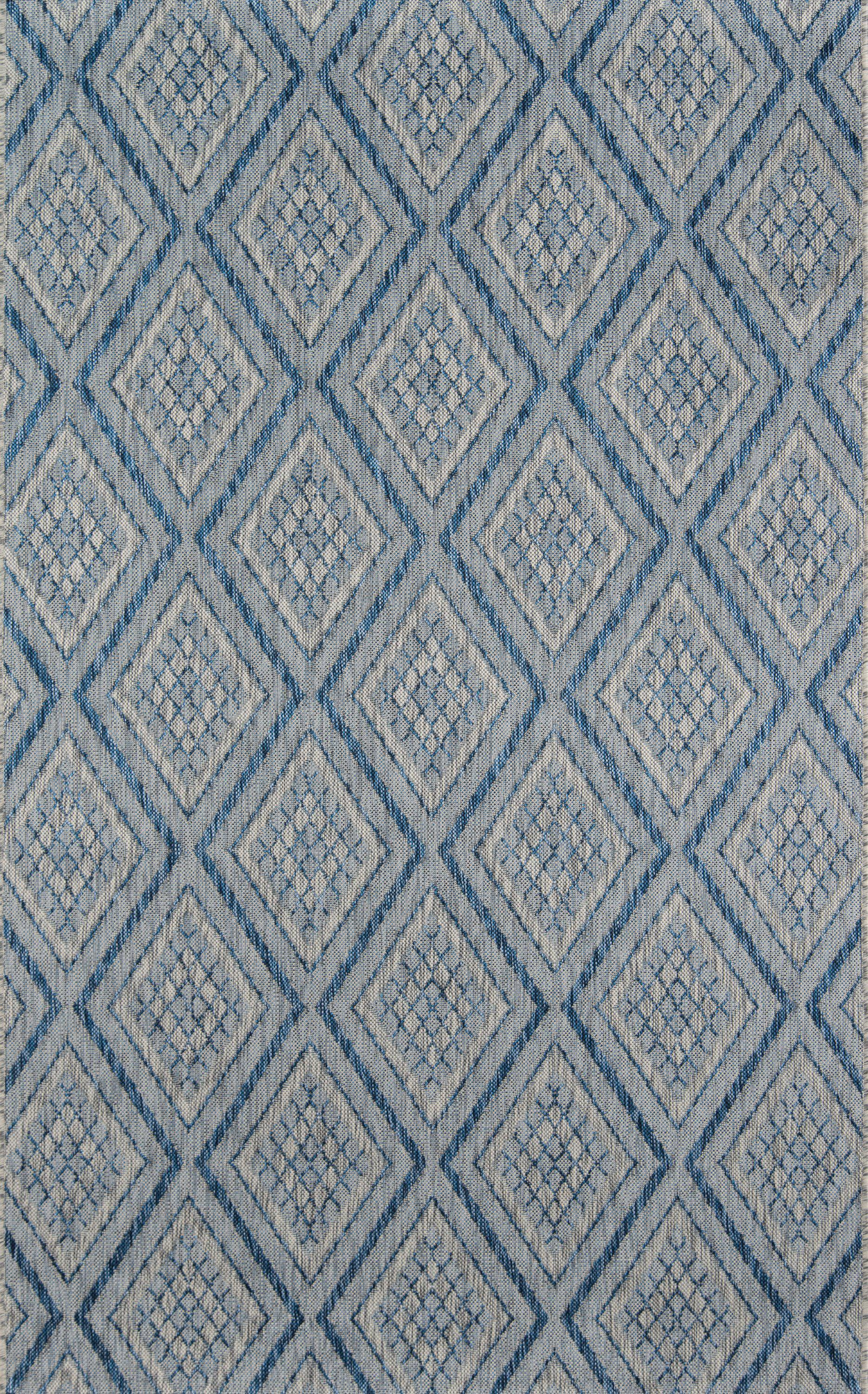 Madcap Cottage by Momeni Lake Palace Rajastan Weekend Blue Indoor/Outdoor Area Rug-Area Rug-Momeni-2' X 3'-The Rug Truck