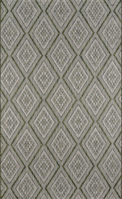 Madcap Cottage by Momeni Lake Palace Rajastan Weekend Green Indoor/Outdoor Area Rug-Area Rug-Momeni-2' X 3'-The Rug Truck