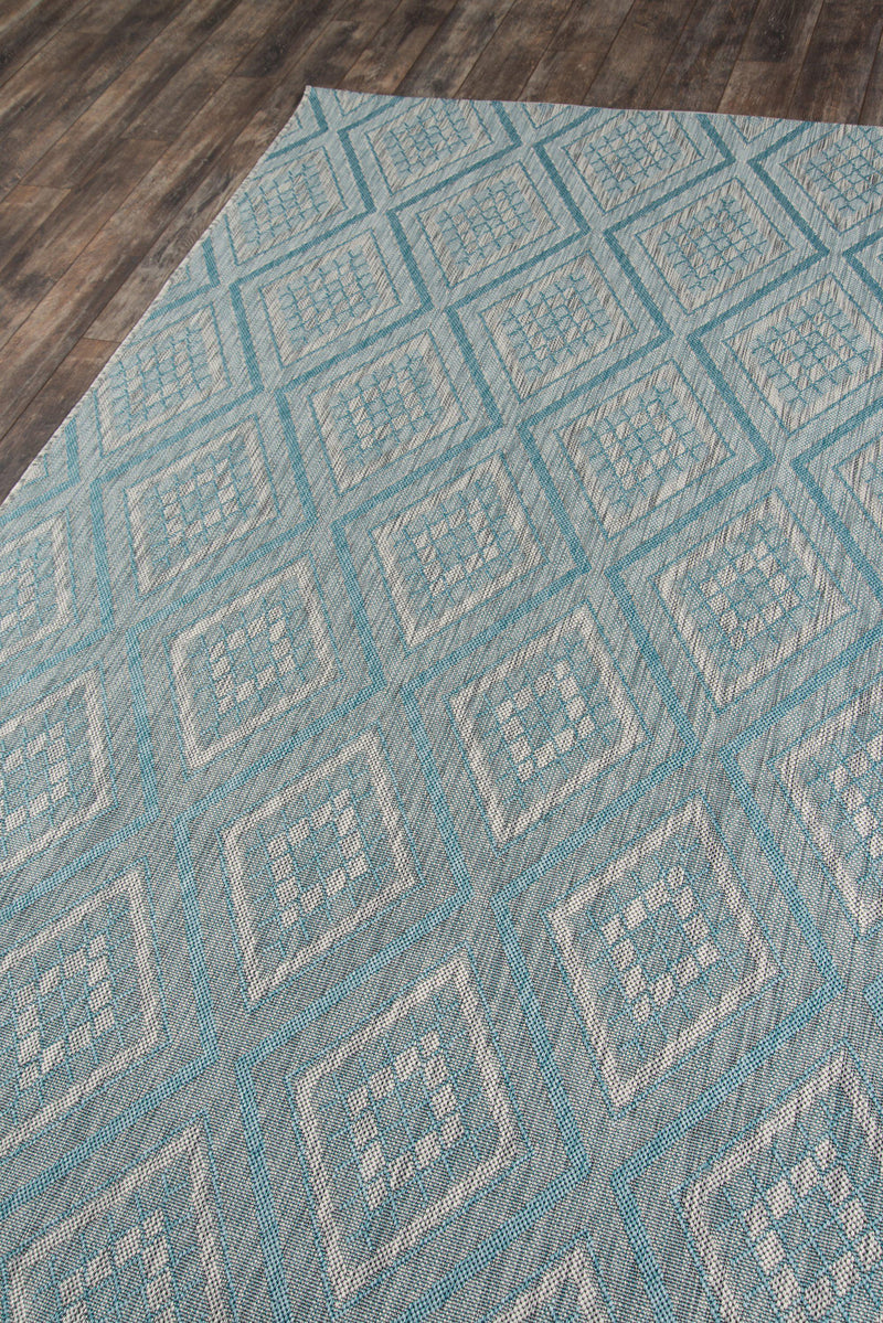 Madcap Cottage by Momeni Lake Palace Rajastan Weekend Light Blue Indoor/Outdoor Area Rug-Area Rug-Momeni-2' X 3'-The Rug Truck