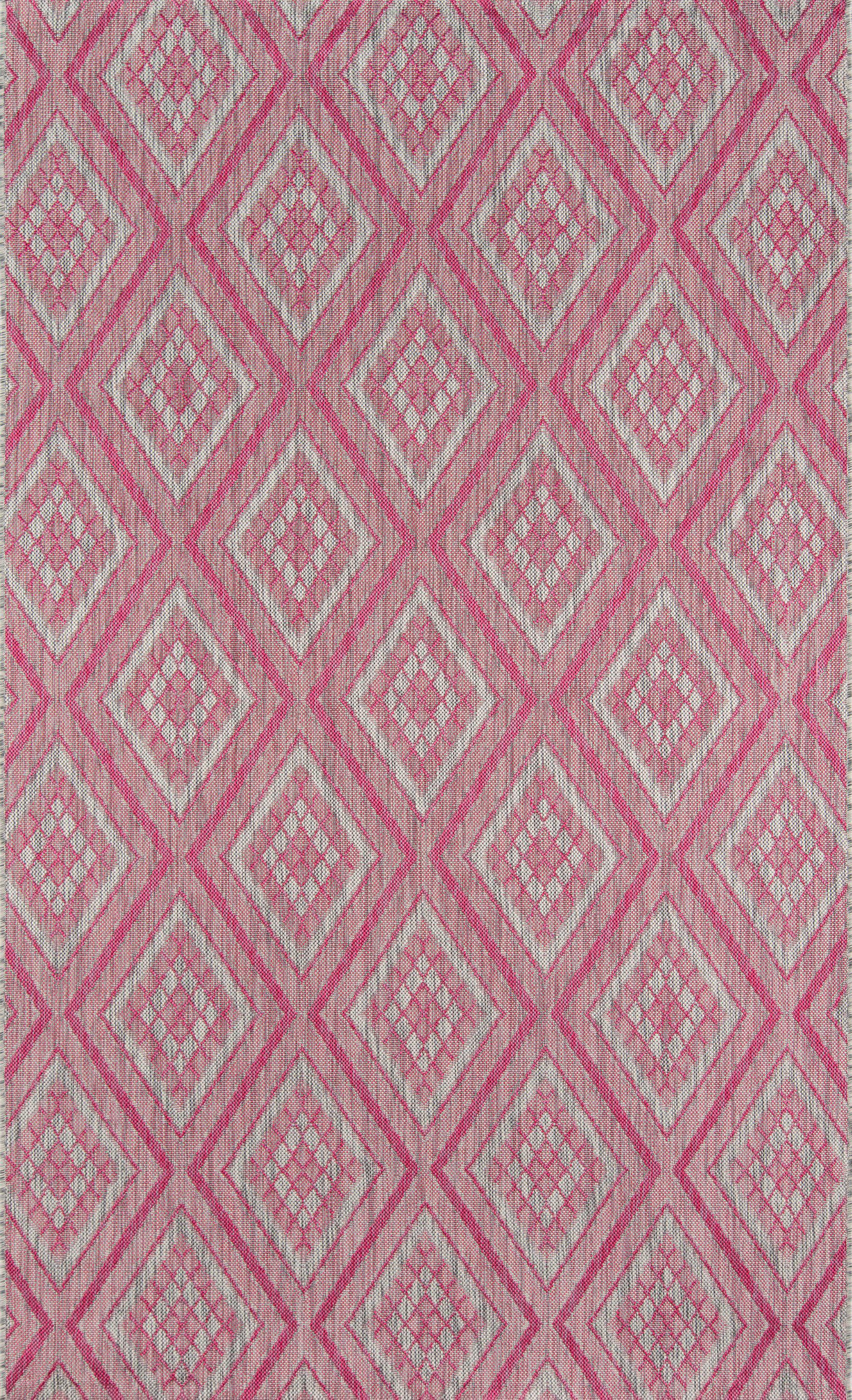 Madcap Cottage by Momeni Lake Palace Rajastan Weekend Pink Indoor/Outdoor Area Rug-Area Rug-Momeni-2' X 3'-The Rug Truck