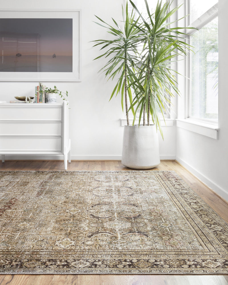 "Layla LAY-03 Olive / Charcoal Area Rug-Area Rug-Loloi-2'-0"" x 5'-0""-The Rug Truck"