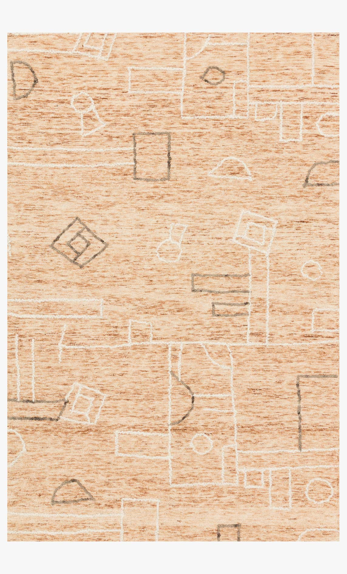 "Justina Blakeney x Loloi LEELA LEE-05 Terracotta / Natural Area Rug (8'-6"" x 12')"