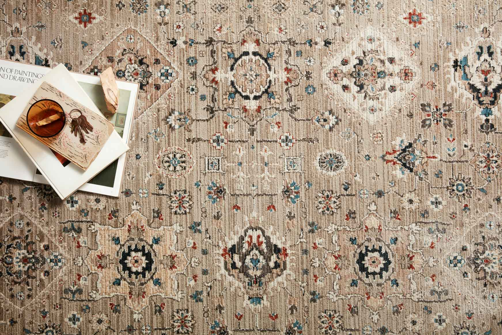 "Loloi LEIGH LEI-02 Dove / Multi Area Rug (7'-10"" x 10'-10"")"