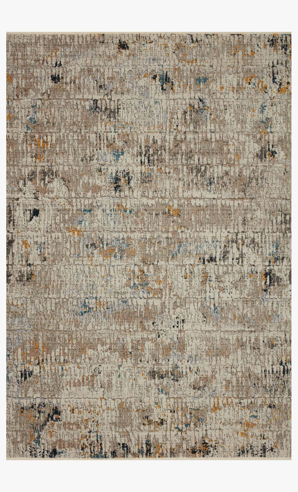 "Loloi LEIGH LEI-06 Ivory / Granite Area Rug (7'-10"" x 10'-10"")"