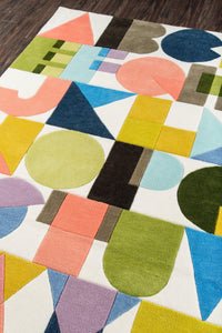 Novogratz by Momeni Lulu LUL-3 ABC Shapes Multi Area Rug-Area Rug-Momeni-The Rug Truck