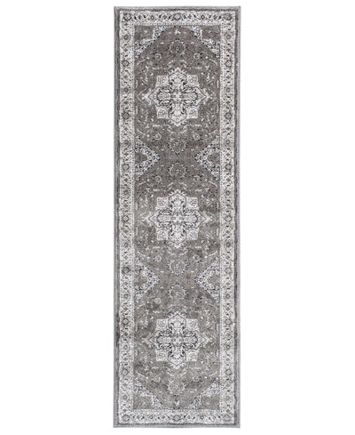 "Largo - Heriz - Grey-Area Rug-KM Home-2'3""x7'7""-The Rug Truck"