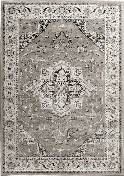 "Largo - Heriz - Grey-Area Rug-KM Home-3'3""x5'3""-The Rug Truck"