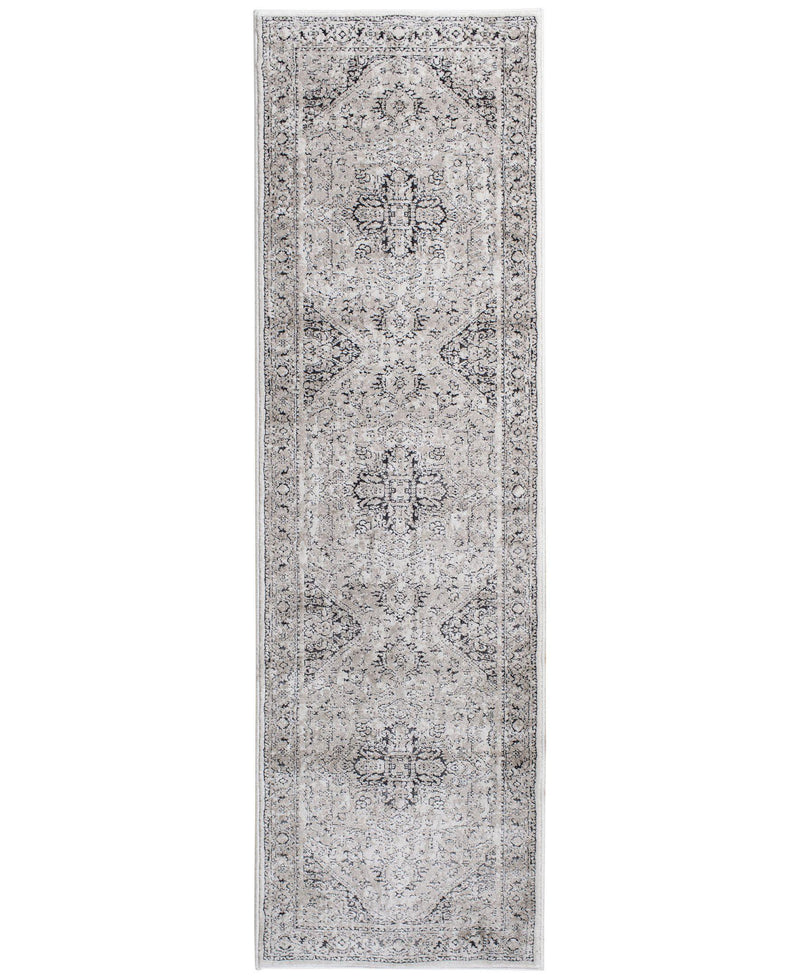 "Largo - Heriz - Stone-Area Rug-KM Home-3'3""x5'3""-The Rug Truck"