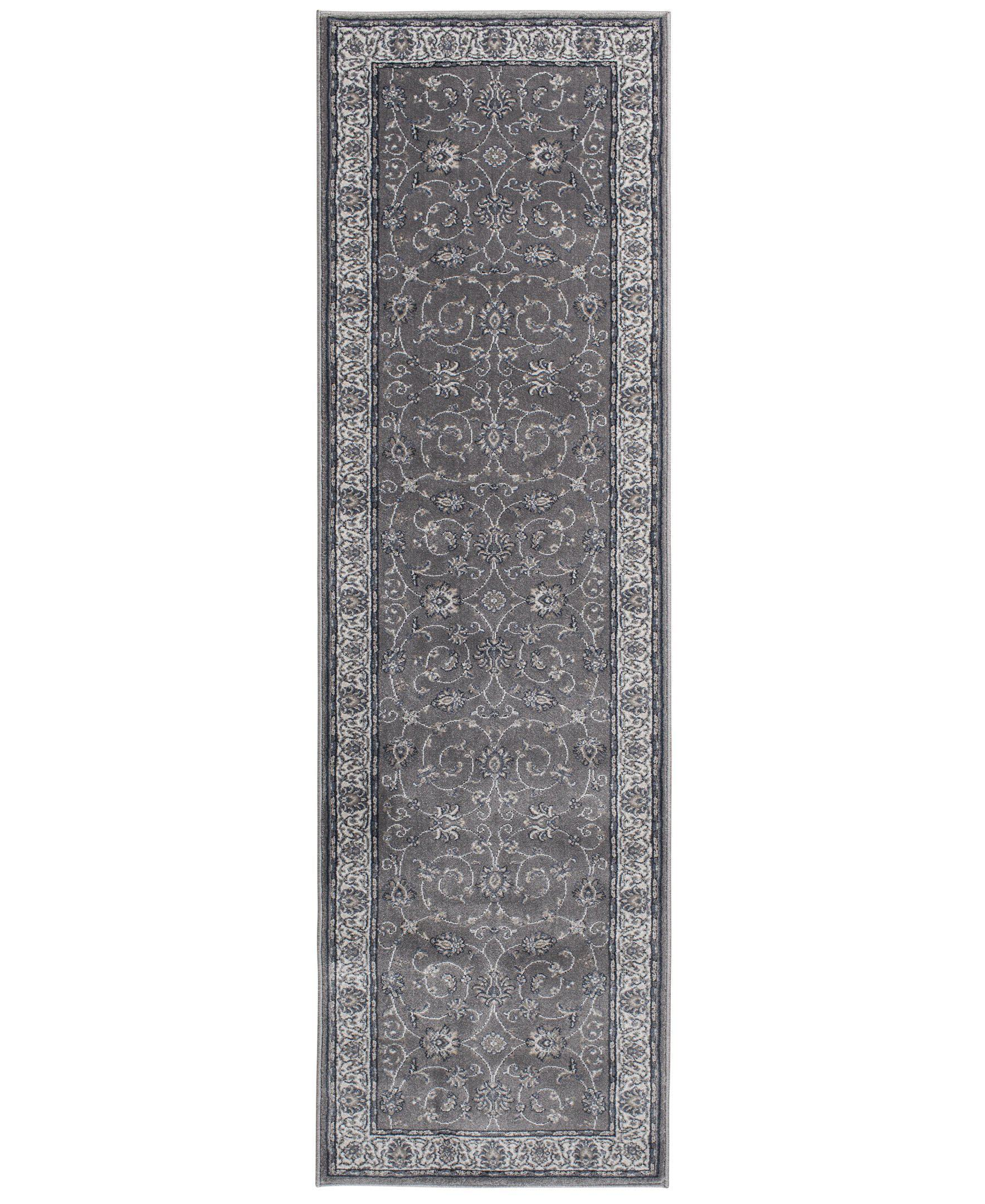 "Largo - Isfahan - Grey-Area Rug-KM Home-3'3""x5'3""-The Rug Truck"
