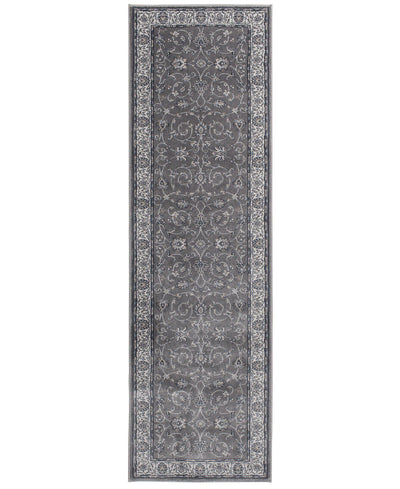 "Largo - Isfahan - Grey-Area Rug-KM Home-2'3""x7'7""-The Rug Truck"